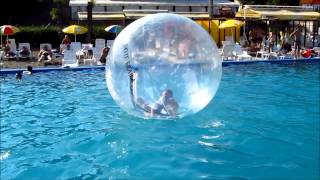 """Crazy """"kid"""" in the water walking ball at Summer Club Temptation - Braila"""