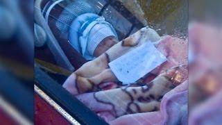 Ein Baby sitzt allein mit einem Zettel im Auto - Was darauf steht wird dich wütend machen..