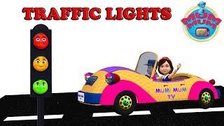 Traffic Lights Song with Lyrics - Nursery Rhymes Songs for Children, Kids, Preschoolers | Mum Mum TV