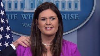 Sarah Sanders has Heated Debate with Fake News reporters Defending Obamacare