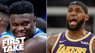 Will Zion Williamson be able to transcend LeBron James? | First Take