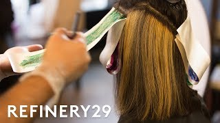 Rainbow Oil Slick Hair Transformation That We Love | Short Cuts | Refinery29