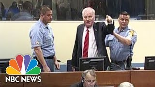 Frmr. Bosnian Serb General Ratko Mladic Has Angry Outburst Before War Crimes Conviction   NBC News