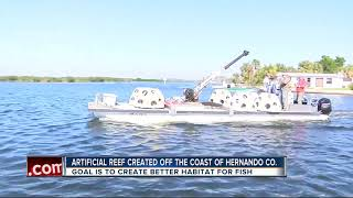 Artificial Reef created in hopes of bringing fishermen and snorkelers to Hernando County