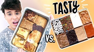 i made tasty's 8 DESSERTS IN 1 PAN !!!