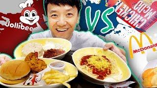 BEST Fast Food! JOLLIBEE vs. MCDONALD