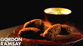 Chickpea, Cumin & Spinach Koftas with a Tahini Dressing | Gordon Ramsay