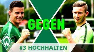 1gegen1 CHALLENGE: Florian Kainz gegen Michael Zetterer | #3 Hochhalten | SV Werder Bremen