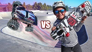 RC Car vs Skateboard Adventure!!