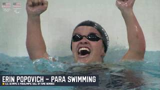 Erin Popovich - Para Swimming - U.S. Olympic & Paralympic Hall of Fame Finalist