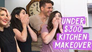 Under $300 Kitchen Makeover!   Mr. Kate Decorates on a Budget