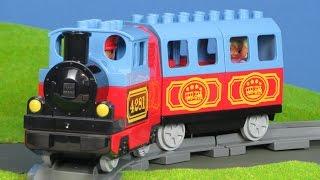 LEGO DUPLO ZUG KINDERFILM: Eisenbahn & Bahnhof Bau für Kinder | Züge & Loks für Kinder
