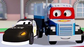 Carl der Super Truck und das Polizeiauto in Autopolis| Auto und Lastwagen Bau Cartoons (für Kinder)