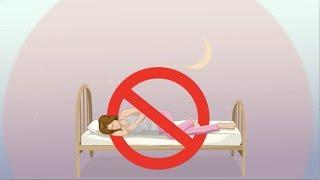 Auf rechter Seite schlafen schadet der Gesundheit.