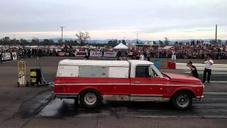 Farm truck and azn at Redding dragstrip 2016.