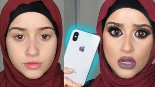 DRAMATIC Makeup Vs. iPhone X Face ID