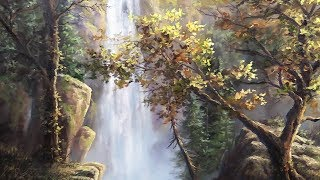 Autumn Waterfall | Paint with Kevin