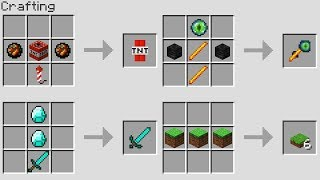 MORE NEW CRAFTING RECiPES (Minecraft 1.13 Snapshot)