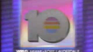 """WPLG Miami/Fort Laderdale Channel 10-""""Eyewitness News"""" 5:00pm Open December 1988"""
