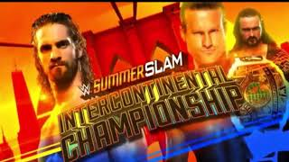 WWE Sumerslam 2018 Seth Rollins vs Dolph Ziggler Official Match Card