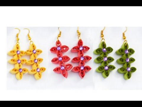 Le Quilling Paper Earrings New Design Making Tutorial