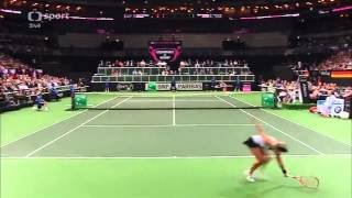Safarova-Kerber last game first set Czech Republic-Germany Fed Cup 2014 Prague