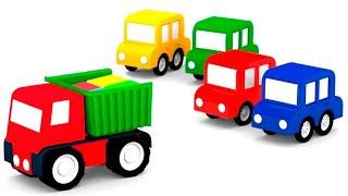 Lehrreicher Zeichentrickfilm - Die 4 kleinen Autos - Wir müssen das schwarze Auto retten
