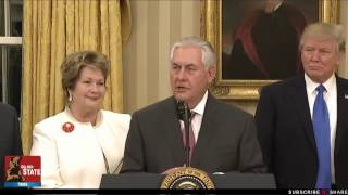 LIVE STREAM: Rex Tillerson Speaks After Being Sworn In as Secretary of State!!!