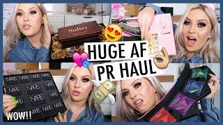 PR UNBOXING HAUL!  💕🎁 Loads of FREE Makeup & GIVEAWAY! 🤯