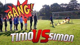 Timo VS Simon CROSSBAR Fussball CHALLENGE mit Community A*SCHBOLZEN !