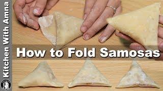 How to fold Samosa perfectly - Homemade Samosa Patti Recipe - Kitchen With Amna