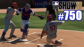 STRAIGHT STEAL OF HOME AGAINST OUR RIVALS!   MLB The Show 18   Road to the Show #750
