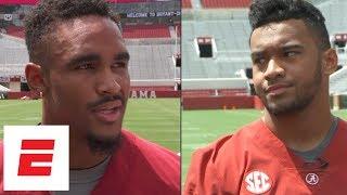 Jalen Hurts, Tua Tagovailoa openly address Alabama QB battle | ESPN