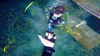 Pranking Dallmyd with Metal Detector (Giant blue hole) | Jiggin