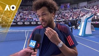 Jo-Wilfried Tsonga on court interview (3R) | Australian Open 2017