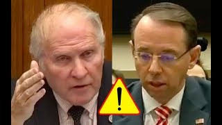 """Congressman SLAMS Rod Rosenstein """"How With A Straight Face Can You Tell Me There Isn"""