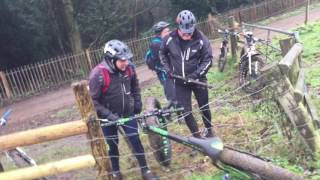 Fat Bike caught on an Electric Fence!