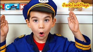 Pretend Play with Police Costumes - Playing Cops & Robbers Compilation.