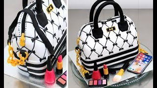 How To Make a Fashion HANDBAG Cake by Cakes StepbyStep