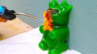 GIANT GUMMY BEAR VS 1000 DEGREE TORCH!
