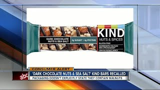 Recall issued for KIND bars due to mislabeled ingredients