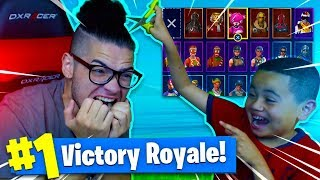 if 9yr old brother wins this fortnite solo game I CUT MY HAIR OFF! YOU WONT BELIEVE WHAT HAPPENED!