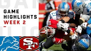Lions vs. 49ers Week 2 Highlights   NFL 2018