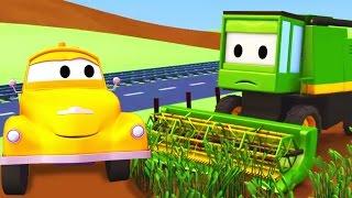 Tom der Abschleppwagen und Der Mähdrescher | Lastwagen Bau-Cartoon-Serie für Kinder