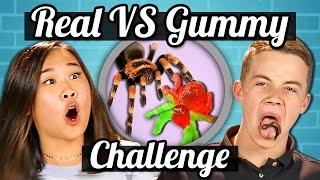 TEENS vs GUMMY FOOD vs REAL FOOD CHALLENGE!!! | Teens Vs. Food