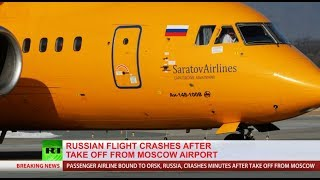 Flight 6W703 crashed minutes after take off from Moscow Domodedovo Airport (Special coverage)