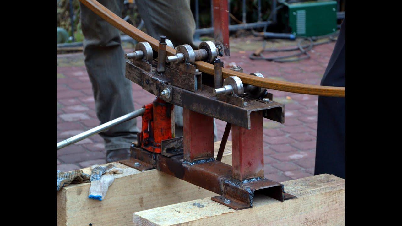 Трубогиб для ковки профильной трубы своими руками