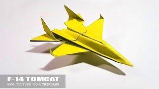 Papierflieger selbst basteln. Papierflugzeug falten - Beste Origami Flugzeug  | F-14 Tom Kakt