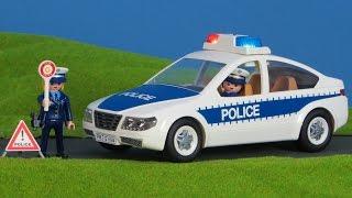 PLAYMOBIL POLIZEI: Polizeiauto, Streifenwagen bringt Dieb ins GEFÄNGNIS | PLAYMOBIL Polizei Film