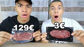3€ STEAK VS 129€ STEAK !!!   PrankBrosTV